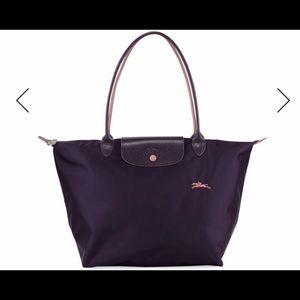 NWT.  Longchamp Le Pliage Club Large Bilberry Bag